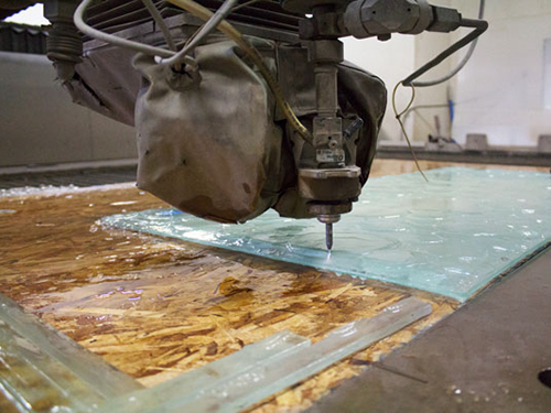 Water Jet Cutting Glass